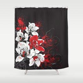Rouge et Noir Shower Curtain