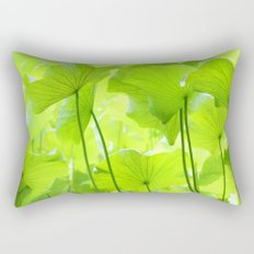 Lotus Leaves Rectangular Pillow