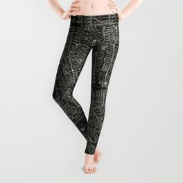 Vintage New Your City Map Leggings