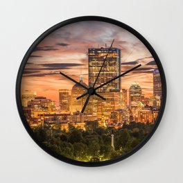 Boston Skyline Wall Clock