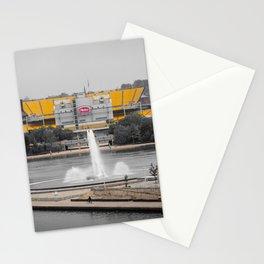 Pittsburgh Football Stadium Steel City Pennsylvania Black White Photography Print Stationery Cards