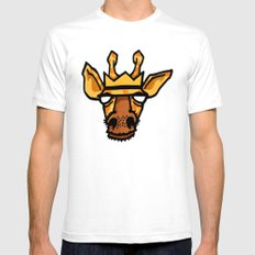 king giraffe SMALL White Mens Fitted Tee
