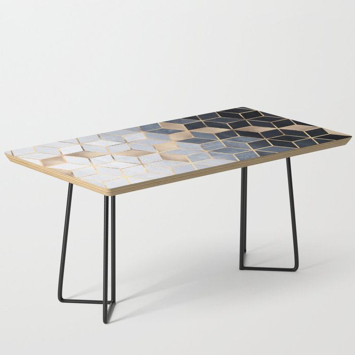 Soft Blue Gradient Cubes Coffee Table