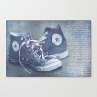 sticker Canvas Prints featuring The sticker by Purple Cactus