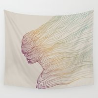 line Wall Tapestries featuring FADE by Huebucket