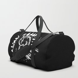 Sun and moon black ad white drawing Duffle Bag