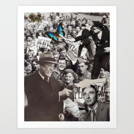 You'll Have Peace When We're Good And Ready (Collage) Art Print