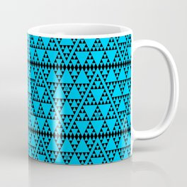 Triangles in triangles on Blue Coffee Mug