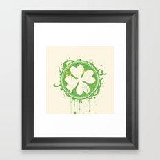 Patrick's clover Framed Art Print