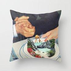 Bermuda a'la Soup Throw Pillow