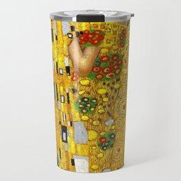 The Kiss Painting Gustav Klimt Travel Mug