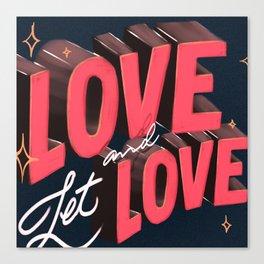 Love & Let Love Canvas Print