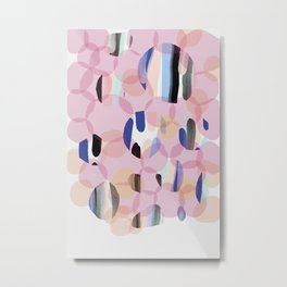 Pink Abstract Platelet #expressive #pink Metal Print