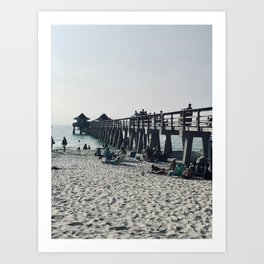 """""""Pier in Naples, Florida"""" Photography by Willowcatdesigns Art Print"""