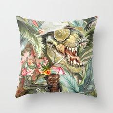 Hunter S. T-Rex Throw Pillow