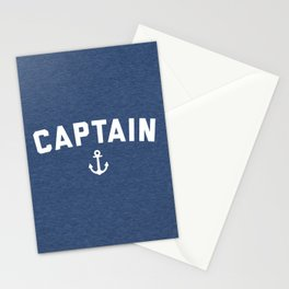 Captain Nautical Quote Stationery Cards