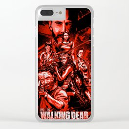 The Walking Dead Poster Clear iPhone Case
