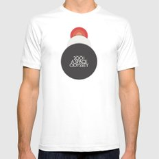 2001 A Space Odyssey - Stanley Kubrick movie Poster, Red Version Mens Fitted Tee MEDIUM White