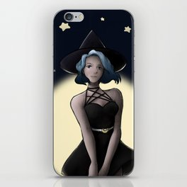 Blue Moon Witch iPhone Skin