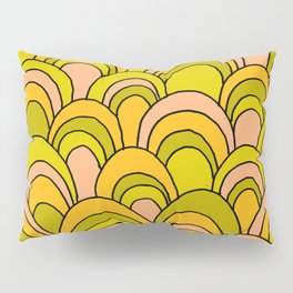 surfboard quiver 70s wallpaper dreams Pillow Sham