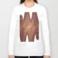 minerals Long Sleeve T-shirts featuring Dancing Lines by thea walstra