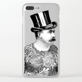 Tattooed Victorian Man | Tattooed Man | Vintage Tattoos | Victorian Tattoos | Victorian Gothic | Clear iPhone Case