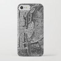 paris map iPhone & iPod Cases featuring Paris map by Le petit Archiviste