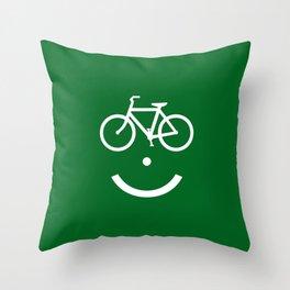 Bike Lane :) Throw Pillow