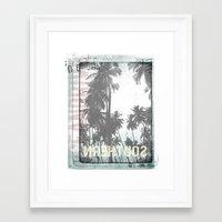 tropical Framed Art Prints featuring tropical by ulas okuyucu