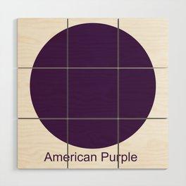 American Purple Wood Wall Art