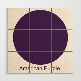 American Purple Wood Wall Art