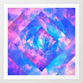 Diamond Galaxy Art Print