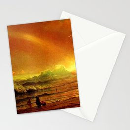 Classical Masterpiece Coastal Sunset by Albert Bierstadt Stationery Cards