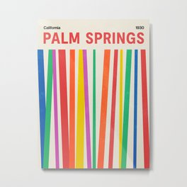 Palm Springs 1930: Retro Mid-Century Edition  Metal Print