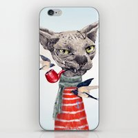 jazzberry iPhone & iPod Skins featuring Sphynx cat by dogooder