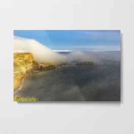 Saltwick Bay as the fog rolls in Metal Print