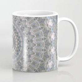Mandala in white, grey and silver tones Coffee Mug