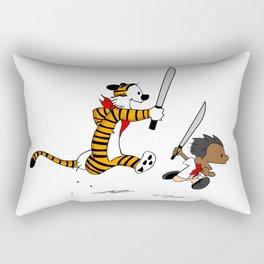 Bonifacio and Hobbes Rectangular Pillow