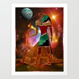Ancient Secrets THOTH 3D Scifi Egyptian Art Print
