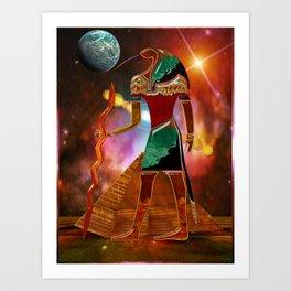 Ancient Secrets THOTH 3D Scifi Egyptian Art Print