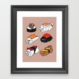 Sushi Poodle Framed Art Print