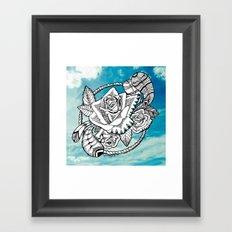 Rose Burst Framed Art Print