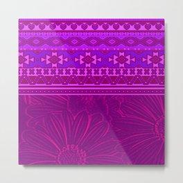 2in1 Pattern Mix, Marcel pink Metal Print
