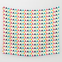 triangle Wall Tapestries featuring triangle by Sébastien BOUVIER
