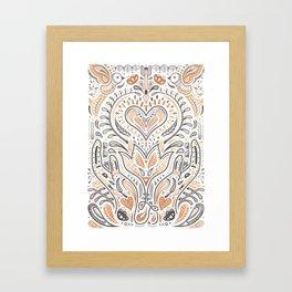 Rose Gold Folklore Pattern Framed Art Print