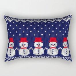 Knitted snowman pattern Rectangular Pillow
