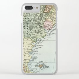 Vintage Map of the South of America Clear iPhone Case