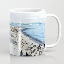 Marching Adelies at Brown Bluff, Antarctica Coffee Mug