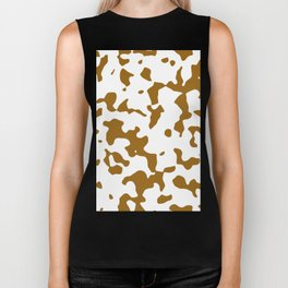 Large Spots - White and Golden Brown Biker Tank