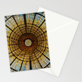 Barcelona glass window stained glass Stationery Cards